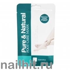 58622 Маска-носочки для ног Natural and Pure Foot Care Mask 1пара