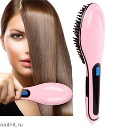 8235 Электрическая расческа-выпрямитель Fast Hair Straightener Розовая