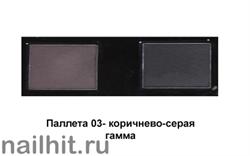 03221 Triumf НАБОР теней для коррекции бровей Eyebrow care 03 Коричнево-серая гамма