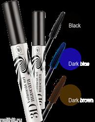 39092 Triumf Тушь для ресниц Black&White Show 3D Темно-коричневая