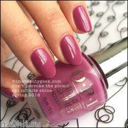 L63 OPI Лак для ногтей Infinite Shine Dont Provoke The Plum 15мл Лето 2016