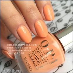 L66 OPI Лак для ногтей Infinite Shine Sunrise To Sunset 15мл Лето 2016