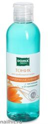 6453 Domix 102393 Тоник для проблемной кожи с чистотелом, Д-пантенолом и наносеребром 200мл