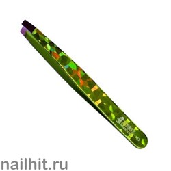 5584 Mertz Пинцет 183-зелёный цветной 9,5см