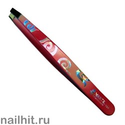 5585 Mertz Пинцет 184-красный цветной 9,5см