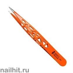 1173 Mertz Пинцет 192 оранжевый, иголка 9,5см