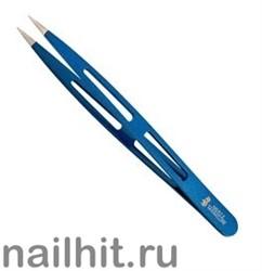 238 Mertz Пинцет 227-P  голубой иголка 10см