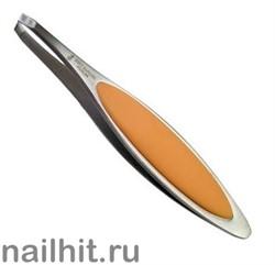 7248 Mertz Пинцет 237-с мягкой оранжевой ручкой 9,5см
