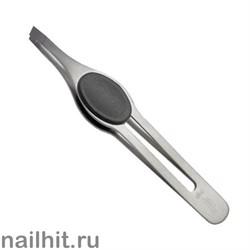 7247 Mertz Пинцет 244-профессиональный с мягкой чёрной ручкой 9,5см
