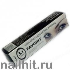 05123 FAVORIT Краска для бровей и ресниц 15мл СВЕТЛО-КОРИЧНЕВАЯ