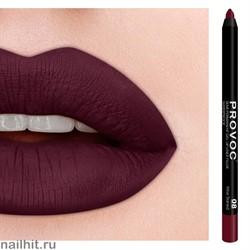 № 08 Provoc Wine Stained Гелевый карандаш для губ (матовый, винно- красный)