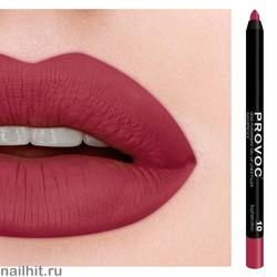№ 10 Provoc Sophistication Гелевый карандаш для губ (матовый, приглушенно красно- розовый)