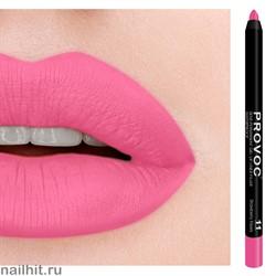 № 11 Provoc Strawberry Kisses Гелевый карандаш для губ (матовый, лавандово- розовый, яркий)