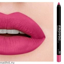 № 12 Provoc Bombshell Гелевый карандаш для губ (матовый, светло- амарантовый)