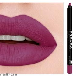 № 28 Provoc Sexy Cabernet Гелевый карандаш для губ (матовый, бархатисто- винный с легким голубоватым цветом)