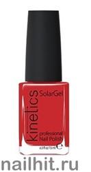 076 Kinetics SolarGel Bonnie Red Лак гелевый для ногтей 15мл (Стойкий, БЕЗ уф-лампы)