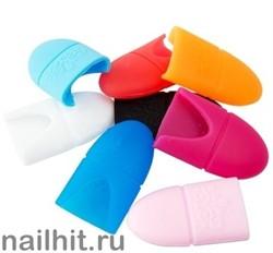 Силиконовые колпачки для снятия гель-лаков 5шт (Разные цвета)