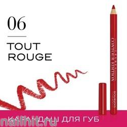 "Bourjois 330061 Карандаш для ГУБ ""Levres Contour "" тон 06 tout rouge"