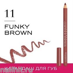 "Bourjois 330111 Карандаш для ГУБ ""Levres Contour "" тон 11 funky brown"