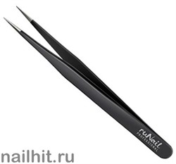 2087 RuNail Пинцет для ресниц Luxury прямой