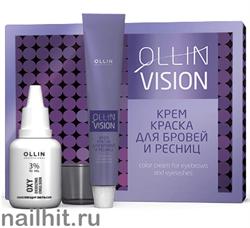 729186 OLLIN Professional Крем-краска для бровей и ресниц ЧЕРНАЯ (набор)
