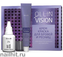 729193 OLLIN Professional Крем-краска для бровей и ресниц КОРИЧНЕВАЯ (набор)