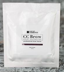 759153 CC Brow Хна для бровей в саше Dark brown 10гр ТЕМНО-КОРИЧНЕВАЯ