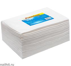 4539 White Line Полотенце одноразовое 35х70 спанлейс белый 50шт/уп
