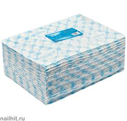 4564 White Line Полотенце одноразовое 45х90 спанлейс голубой 50шт/уп