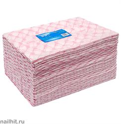 5537 White Line Полотенце одноразовое 45х90 спанлейс розовый 50шт/уп