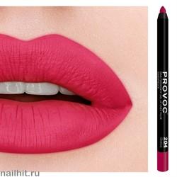 № 204 Provoc Glorious Гелевый карандаш для губ (матовый, красно- малиновый)