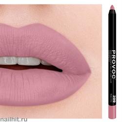 № 209 Provoc Rose Chic Гелевый карандаш для губ (матовый, натурально- розовый)