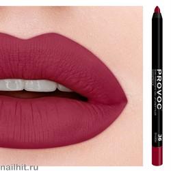 № 36 Provoc Smolder Гелевый карандаш для губ (матовый, красно- малиновый)