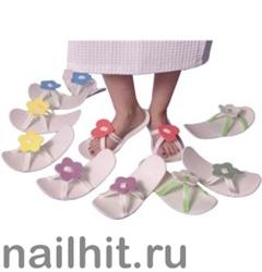 Тапочки фигурные сезонные 1пара ЦВЕТОЧЕК (индивид. упаковка)
