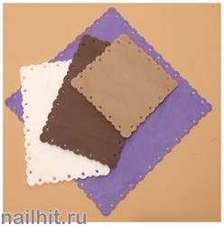 Салфетки Кружевница (спанбонд) 40х40-25 шт (Темно-коричневые)