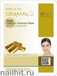 850323 Dermal 009 Маска для лица Коллаген+ Коллоидное Золото 1шт подтягивающая