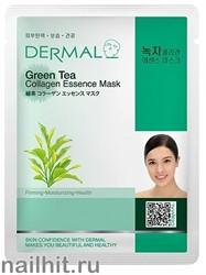 850330 Dermal 010 Маска для лица Коллаген+ Зеленый чай 1шт матирующая