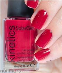 380 Kinetics SolarGel Hedonist Red Лак гелевый для ногтей 15мл (Стойкий, БЕЗ уф-лампы)