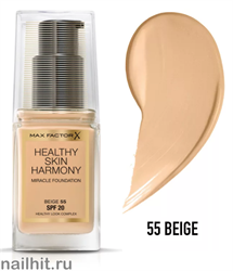 "Max Factor Тональная основа ""Healthy Skin Harmony Miracle Foundation""  тон 55 beige"