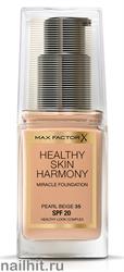 "Max Factor Тональная основа ""Healthy Skin Harmony Miracle Foundation""  тон 35 pearl beige"