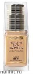 "Max Factor Тональная основа ""Healthy Skin Harmony Miracle Foundation""  тон 47 nude"