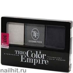 05645 Триумф TF Тени для век тройные Trio Color Empire 303 звездное небо