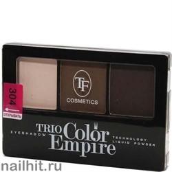 05652 Триумф TF Тени для век тройные Trio Color Empire 304 шоколад