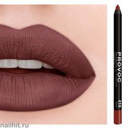 № 215 Provoc Plump Гелевый карандаш для губ (матовый, красно- коричневый)