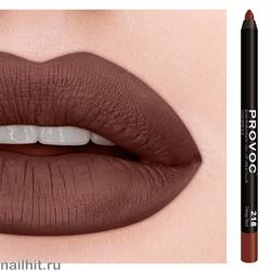 № 218 Provoc Deep Red Гелевый карандаш для губ (матовый, коричнево- красный)