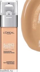 """L'OREAL Тональный крем Alliance Perfect, Совершенное слияние"""" тон D4 золотистый 30мл"""