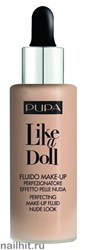 "Pupa  050036 020  Тональный крем ""Like a Doll Make Up Fluid Nude Look"" тон 20 Светло бежевый"