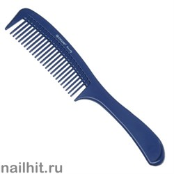 8684 Dewal Beauty Гребень синий DBS-6810 с ручкой