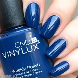 257 Vinylux CND Лак для ногтей Winter Nights 15мл Темно-синий, без перламутра и блесток, плотный