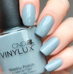 258 Vinylux CND Лак для ногтей Mystic Slate 15мл Светло-серый, без перламутра и блесток, плотный